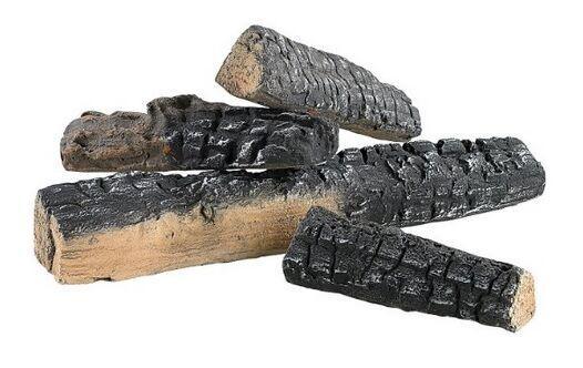 Decoratieve keramische houtblokken, 4 stuks