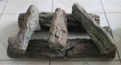 Decoratieve betonnen houtblokken, 5-delig witte berk