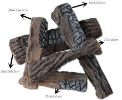 Decoratieve keramische houtblokken, 5 stuks